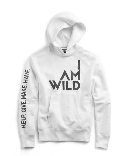 IAMWILD® Popover Hoodie In White