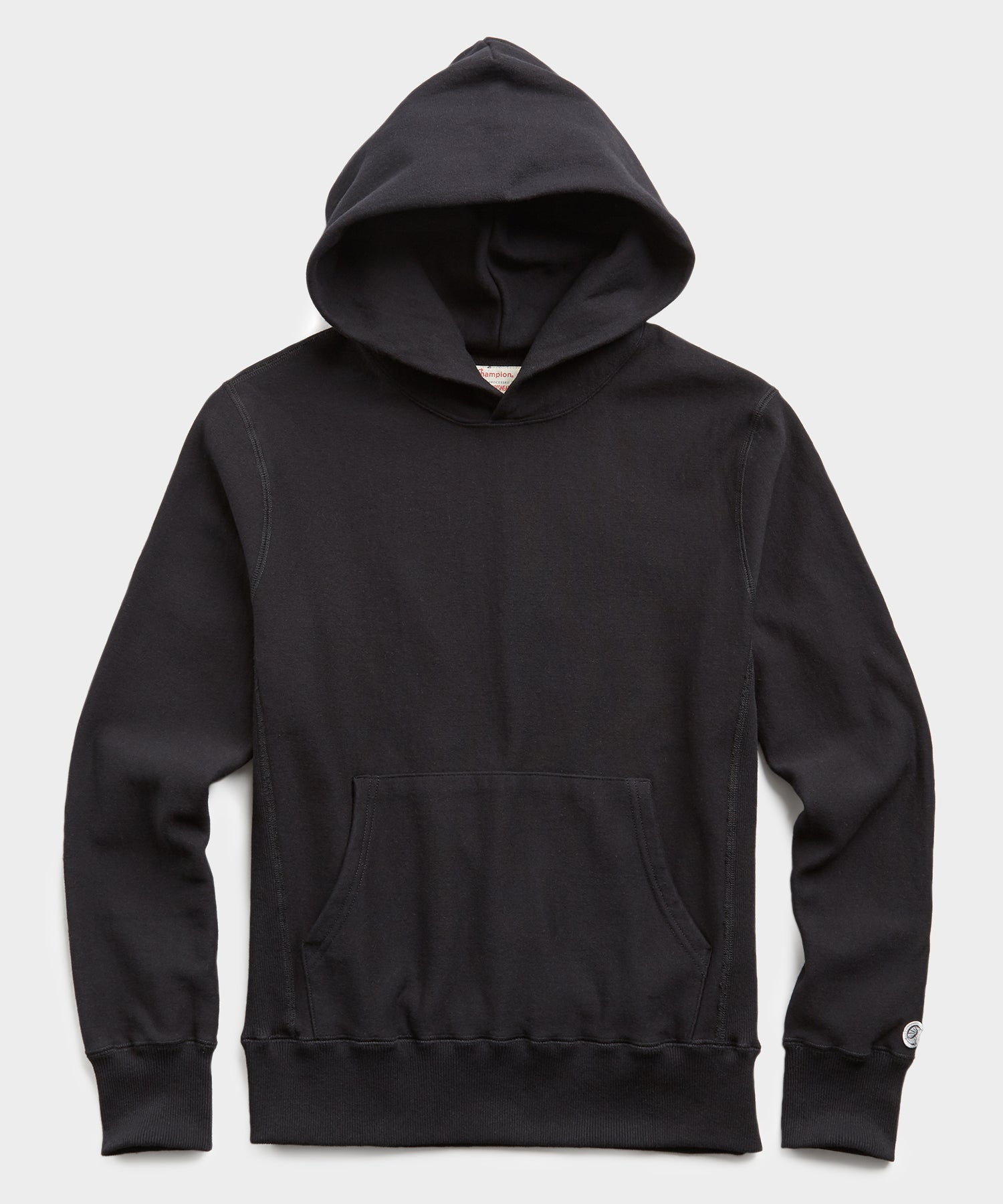 Lightweight Popover Hoodie Sweatshirt in Black