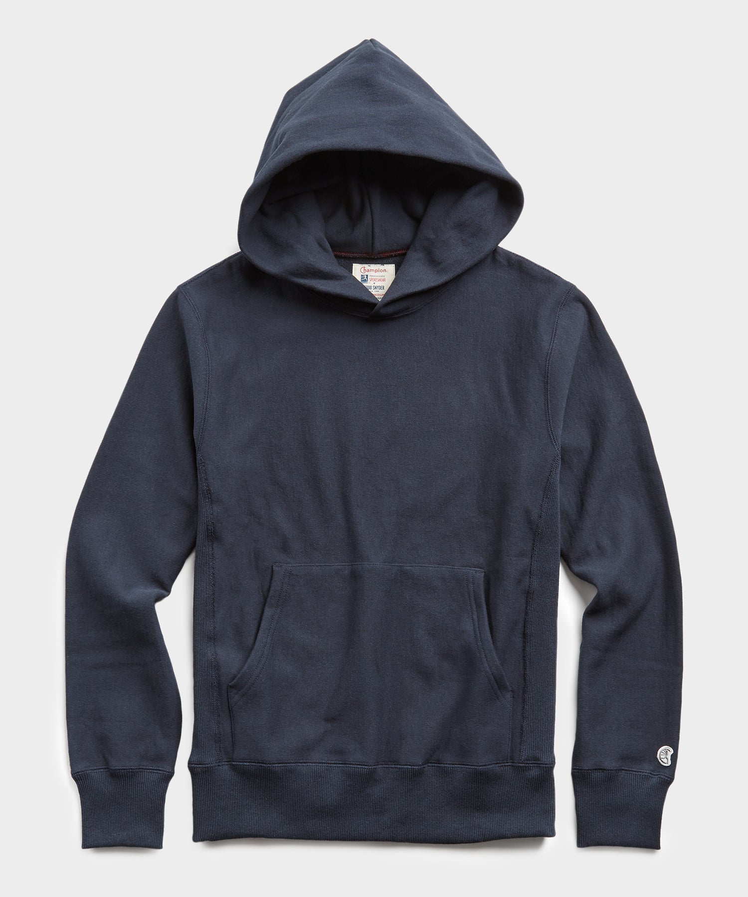 Lightweight Popover Hoodie Sweatshirt in Navy