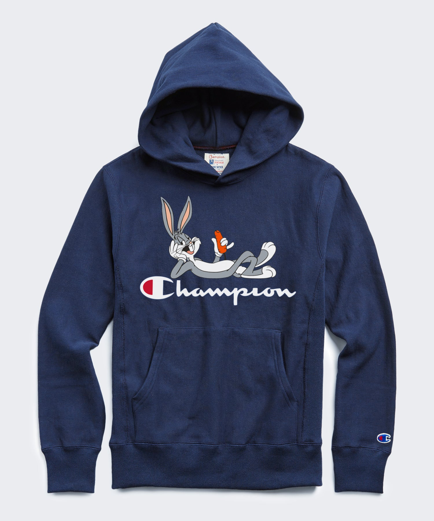 Champion + Looney Tunes Bugs Bunny Hoodie in Marine Blue