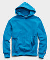 Terry Popover Hoodie Sweatshirt in Slate Teal