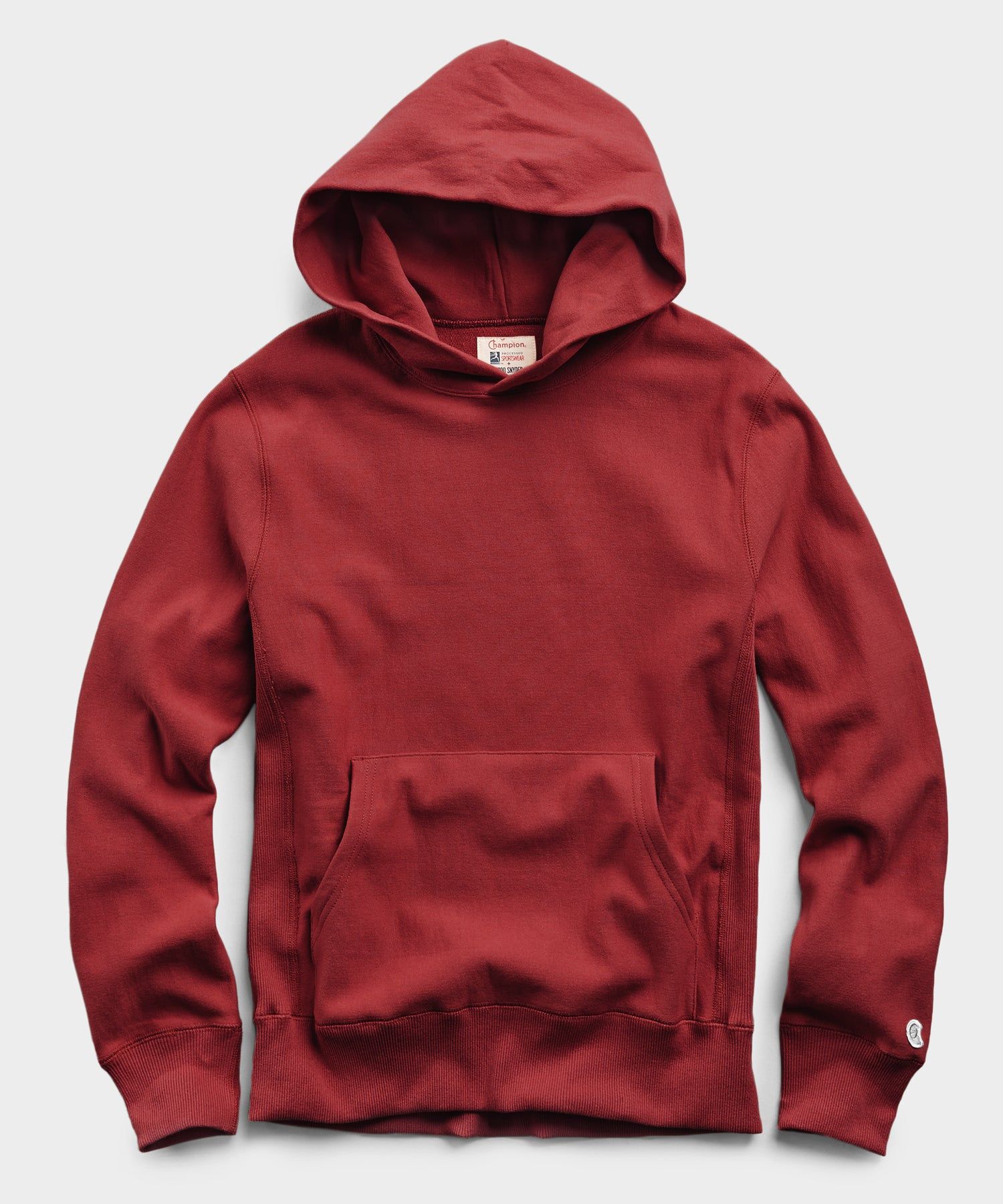 Popover Hoodie Sweatshirt in Crimson Red