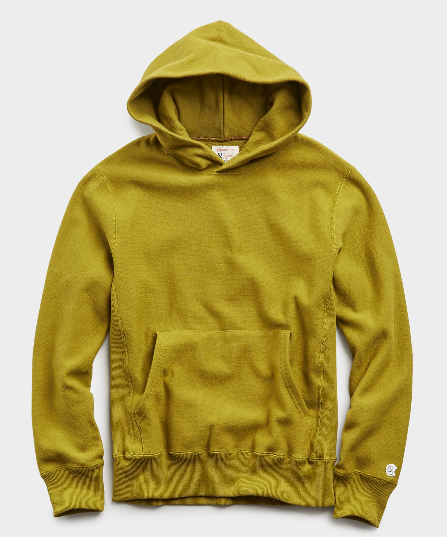 Terry Popover Hoodie Sweatshirt in Lime Leaf