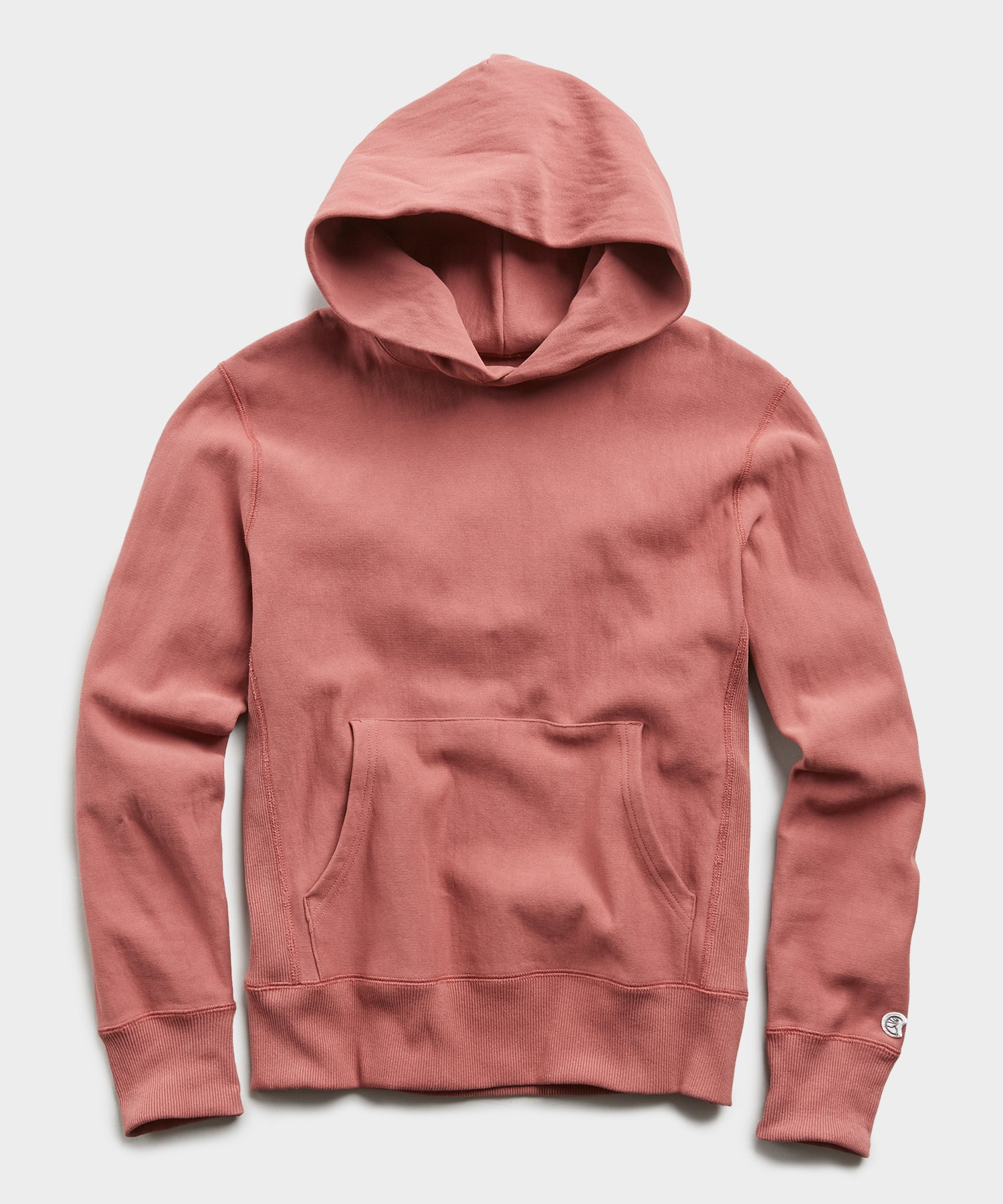 Lightweight Popover Hoodie Sweatshirt in Rosewine