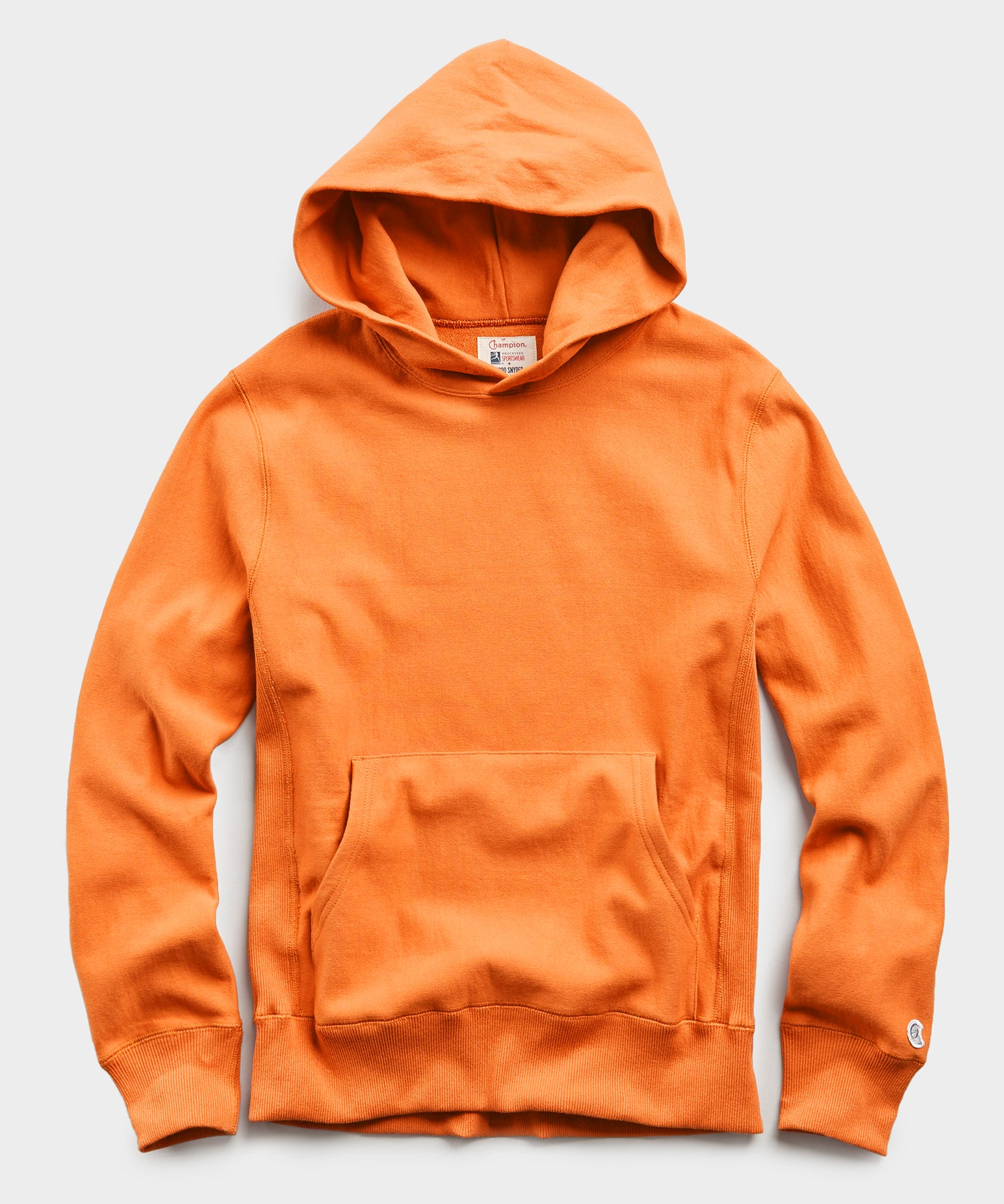 Lightweight Popover Hoodie Sweatshirt in Signal Orange