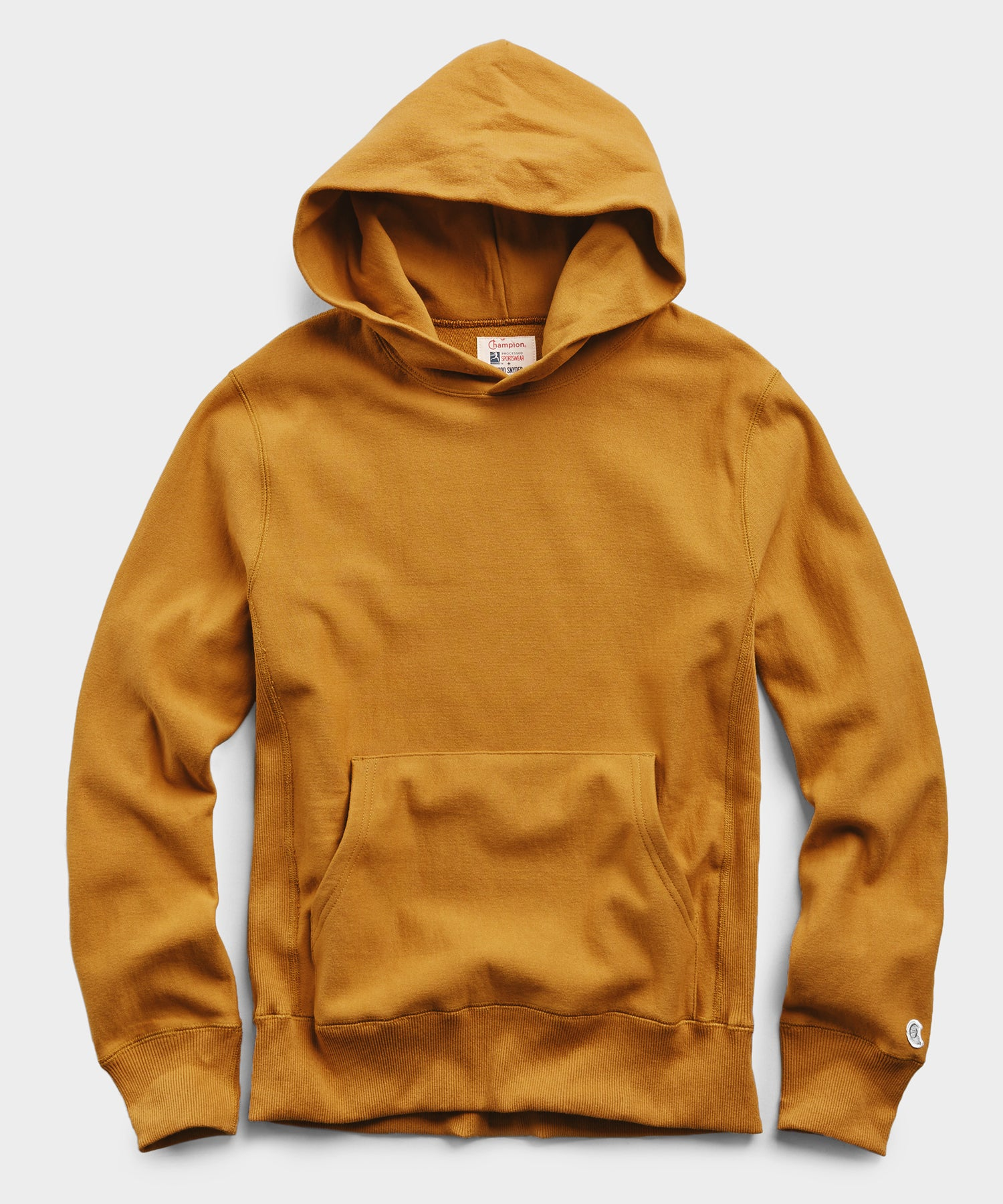 Lightweight Popover Hoodie Sweatshirt in Trophy Gold