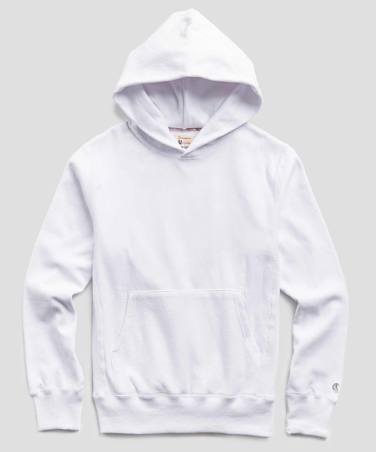 Terry Popover Hoodie Sweatshirt in White
