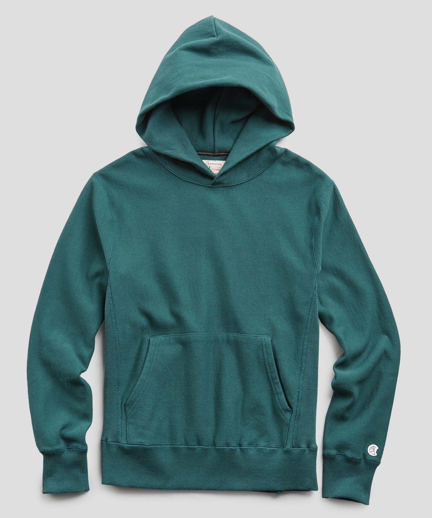 Terry Popover Hoodie Sweatshirt in Storm Green