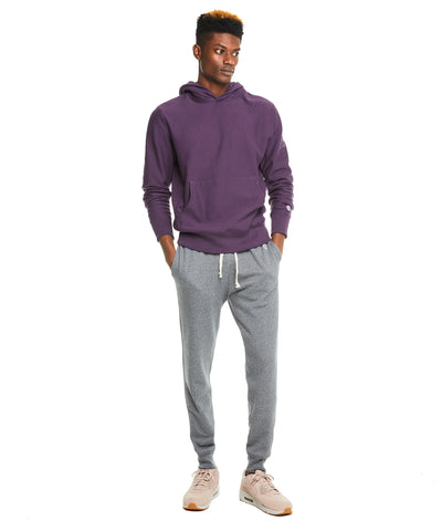Terry Popover Hoodie in Plum Royale