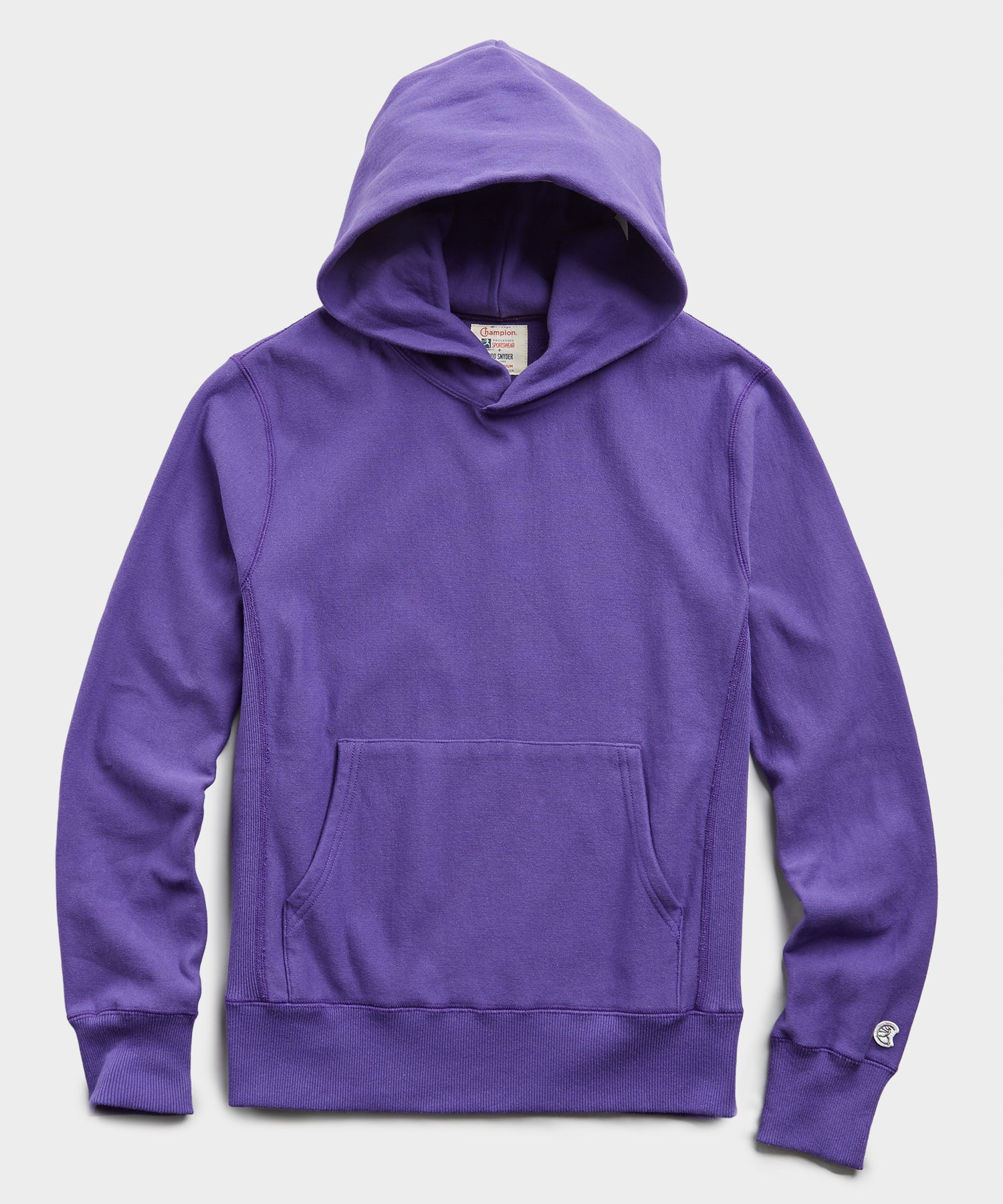 Terry Popover Hoodie Sweatshirt in Royal Purple