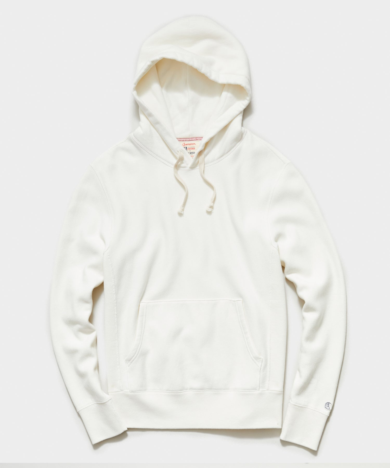 Midweight Popover Hoodie Sweatshirt in Antique White