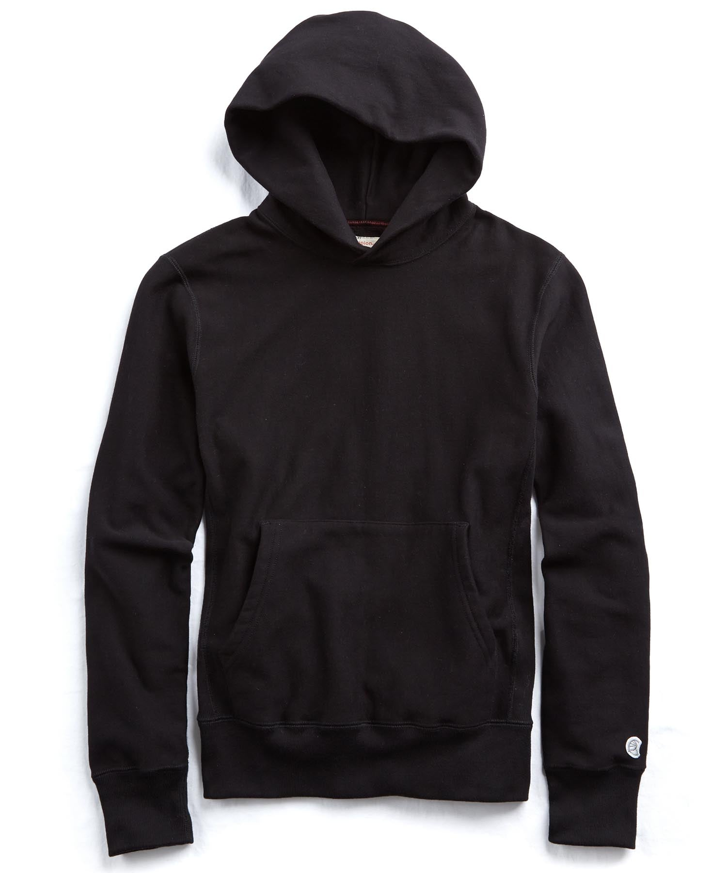 Fleece Popover Hoodie in Black