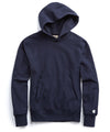 Fleece Popover Hoodie Sweatshirt in Navy