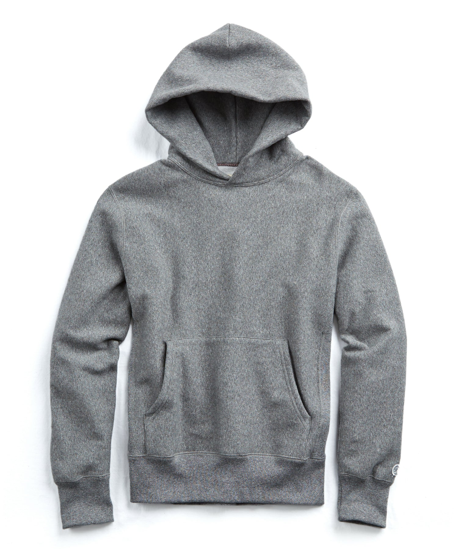 Heavyweight Popover Hoodie Sweatshirt in Salt and Pepper