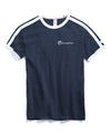 Double Stripe Tee in Navy/White