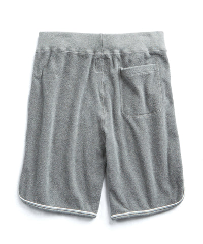 Piped Terry Cloth Basketball Sweat Short
