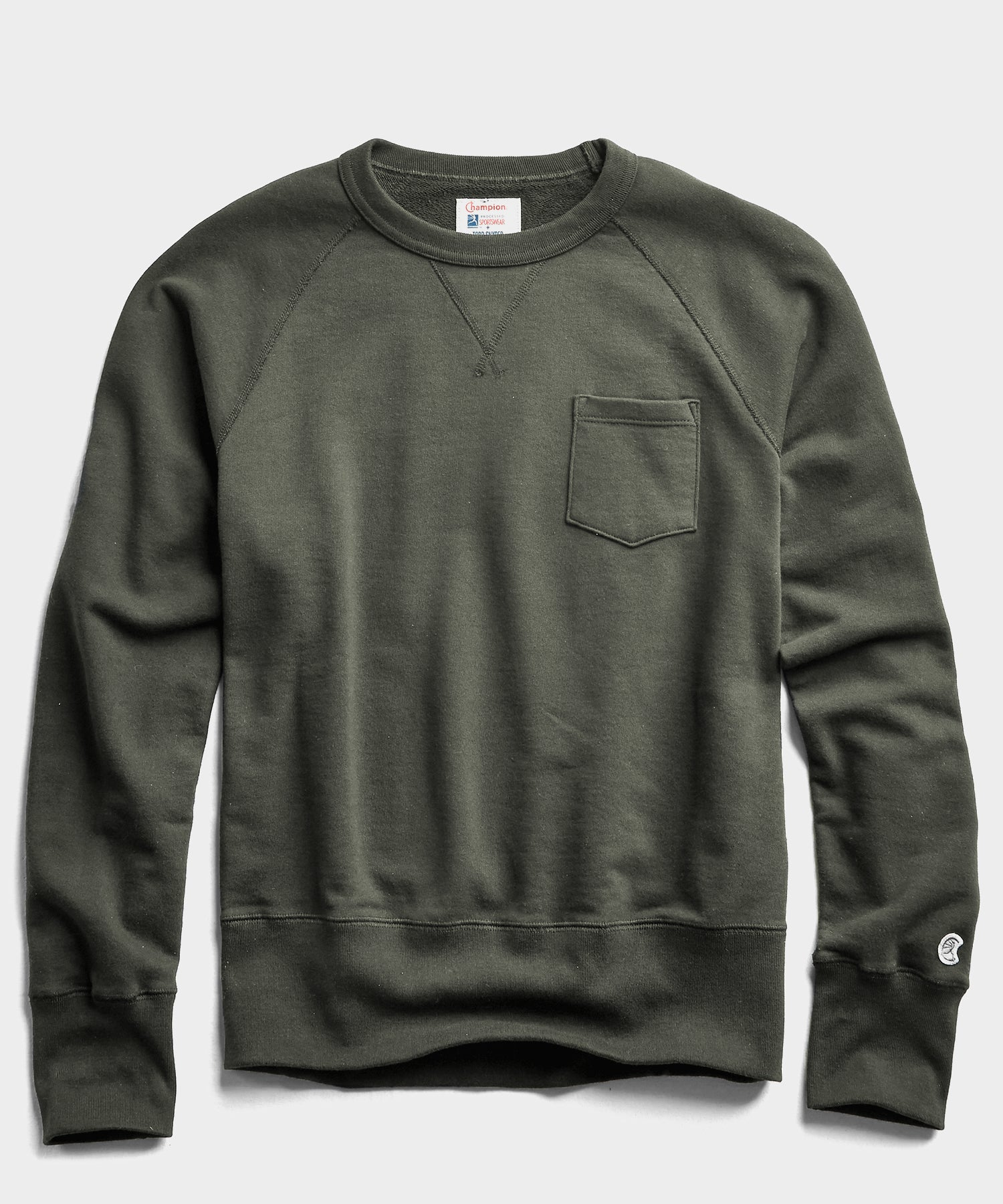 Midweight Pocket Sweatshirt in Army Green