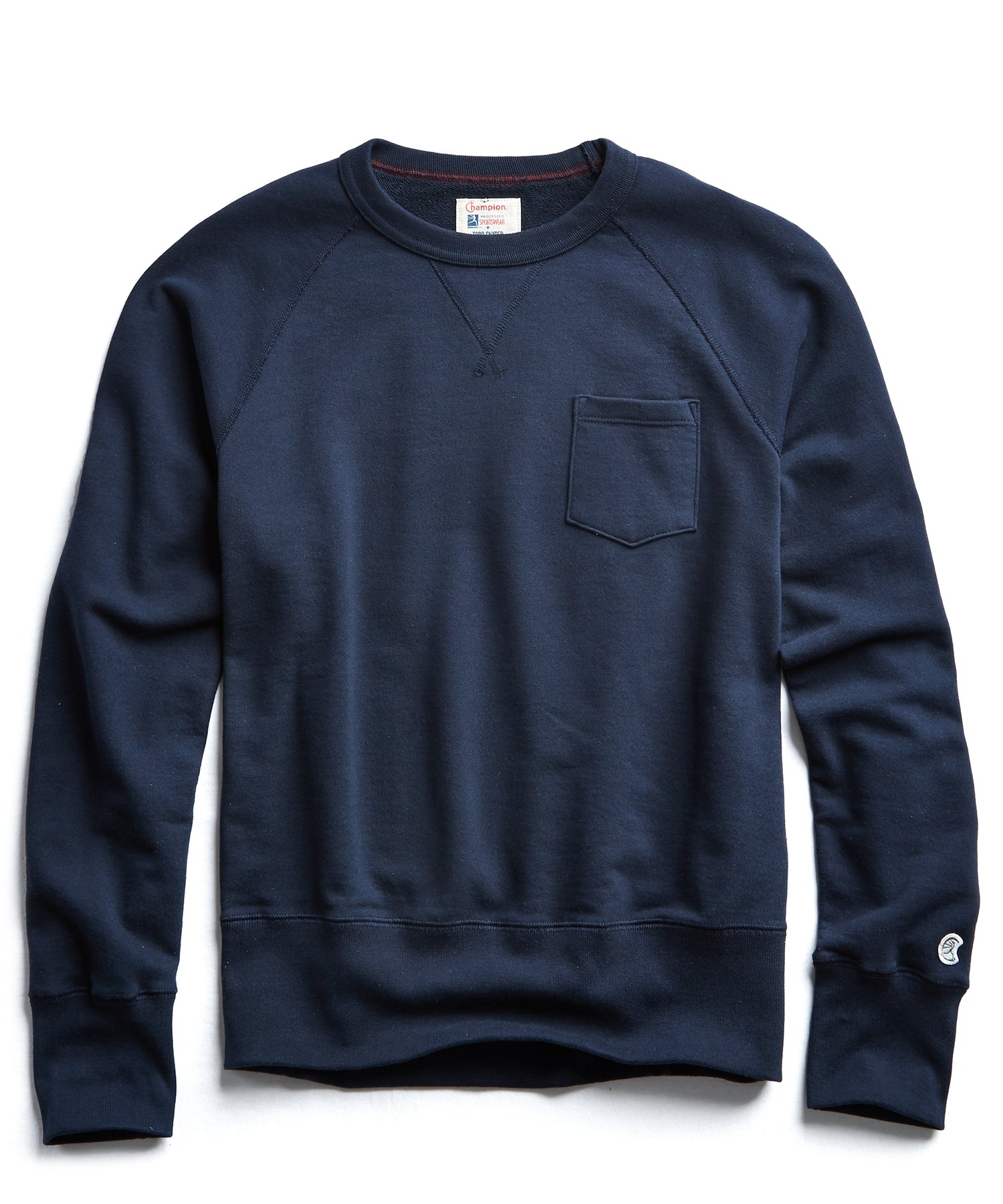 Fleece Pocket Sweatshirt in Navy