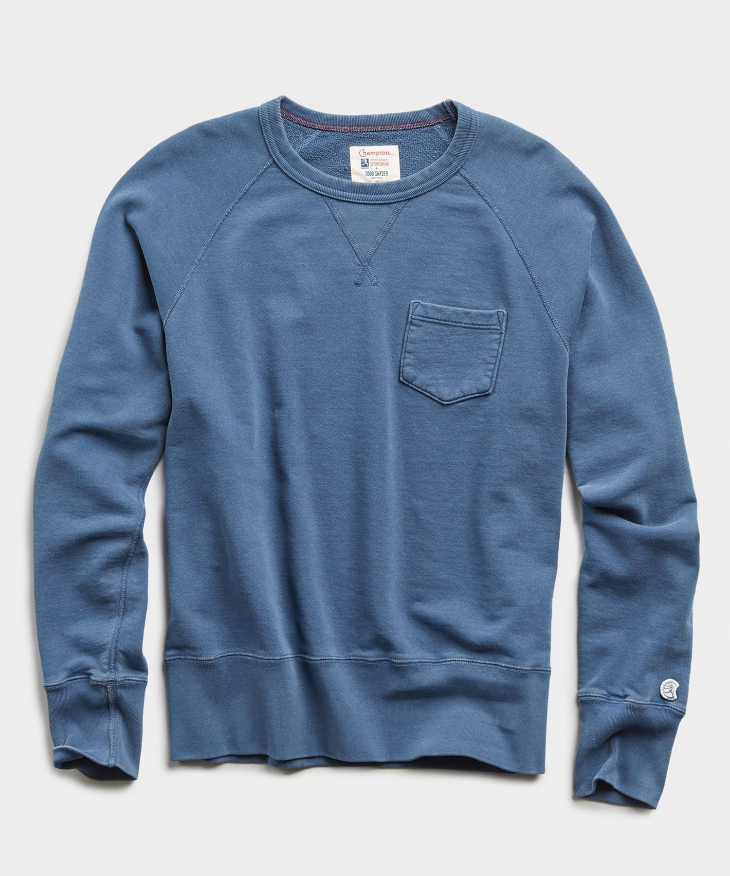 Lightweight Pocket Sweatshirt in Cadet Blue
