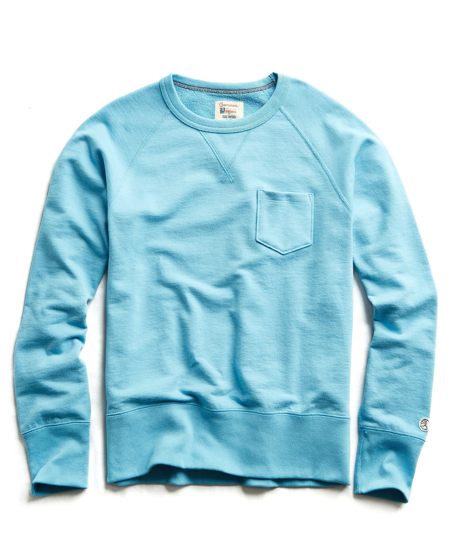 Terry Pocket Sweatshirt in Pool Blue