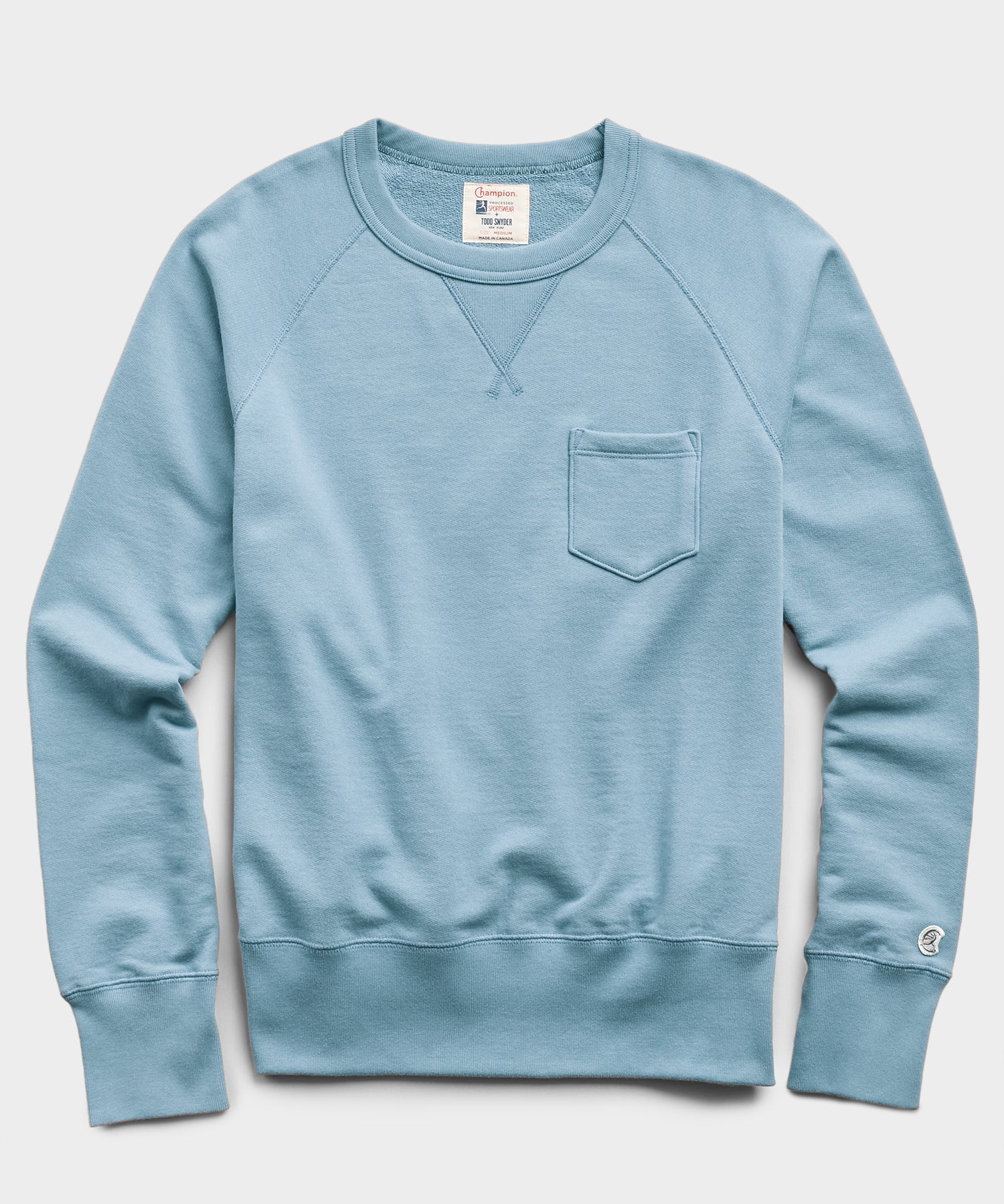 Midweight Pocket Sweatshirt in Blue Mist