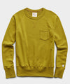 Lightweight Pocket Sweatshirt in Lime Leaf