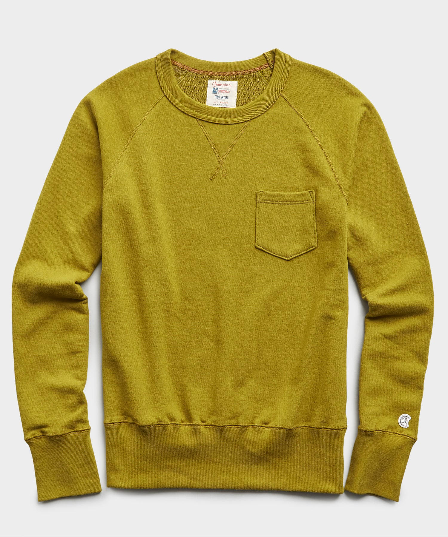 Terry Pocket Sweatshirt in Lime Leaf