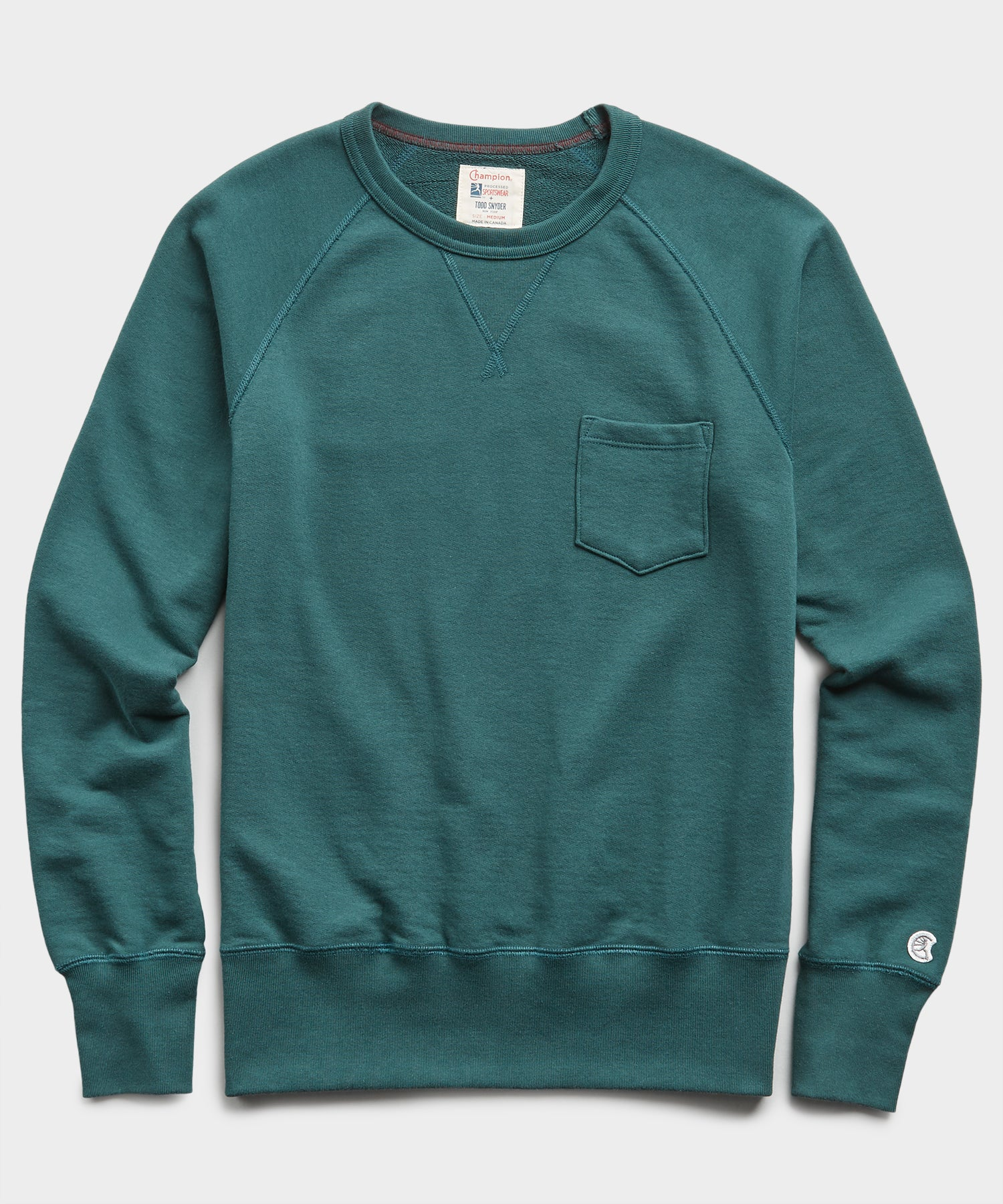 Terry Pocket Sweatshirt in Storm Green