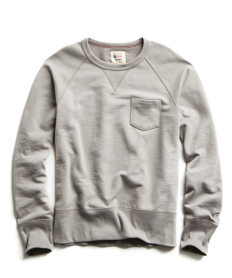 Terry Pocket Sweatshirt Pebble Grey