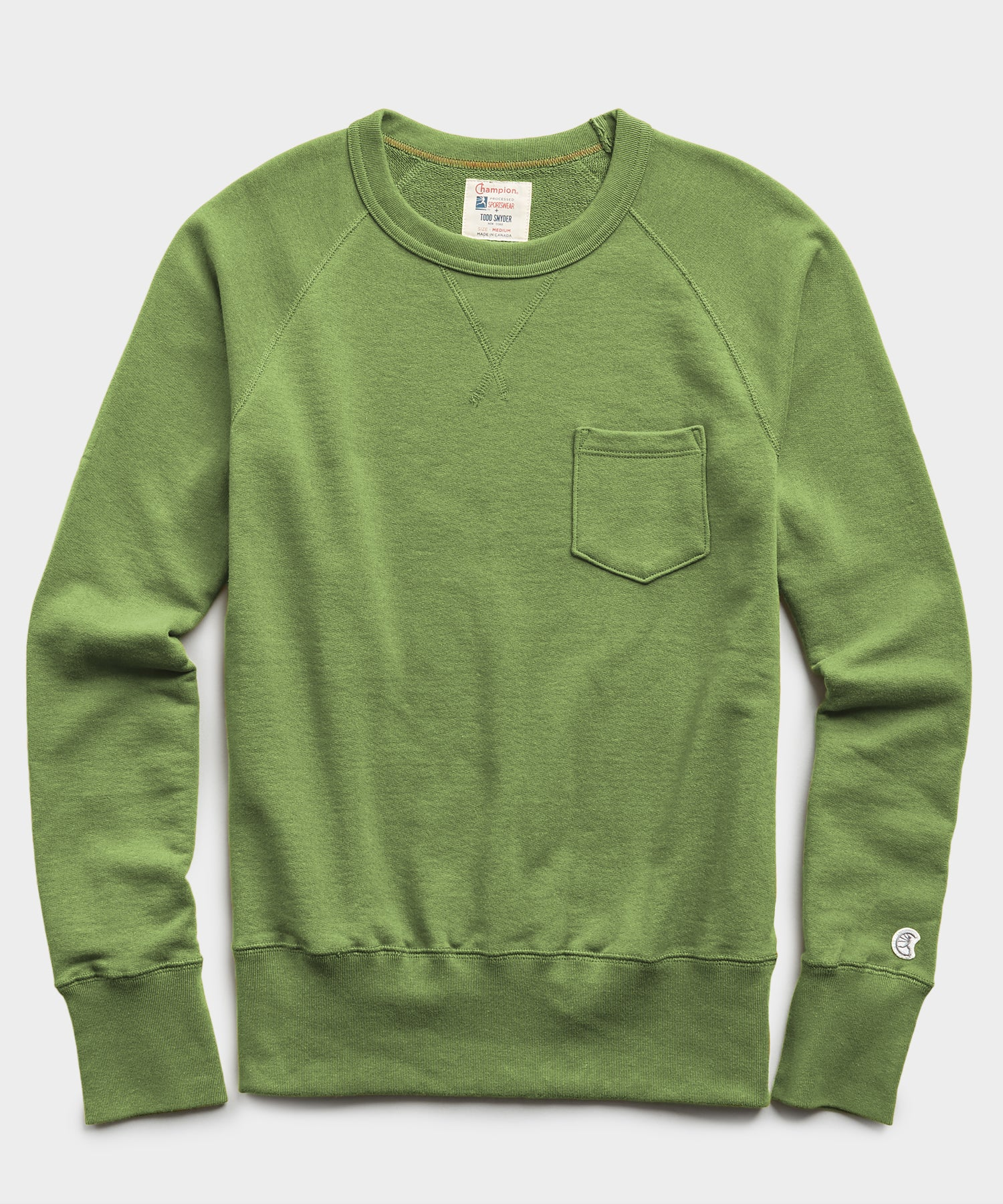 Lightweight Pocket Sweatshirt in Guacamole
