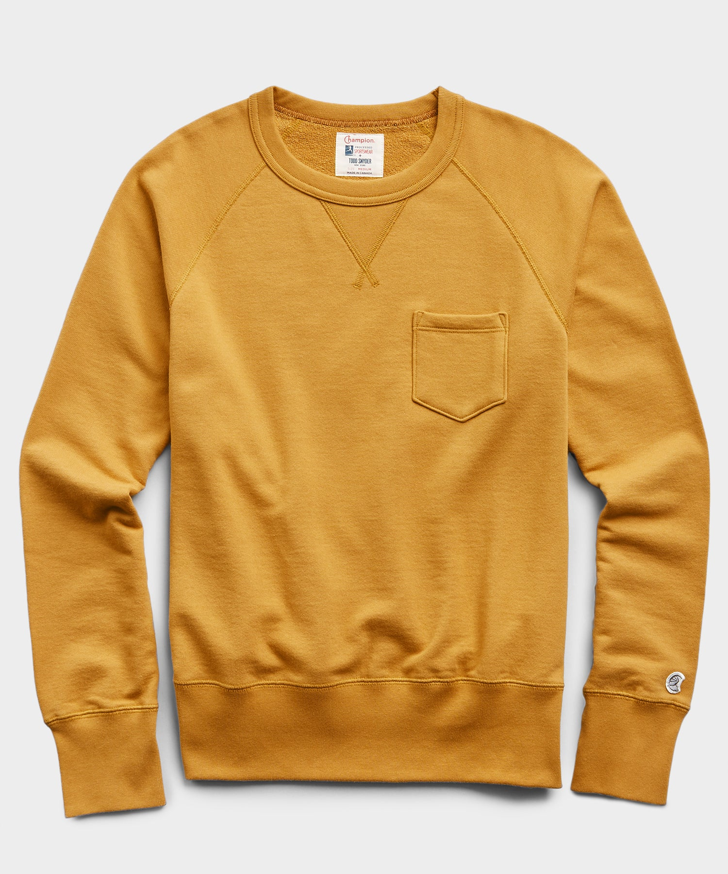 Midweight Pocket Sweatshirt in Mustard