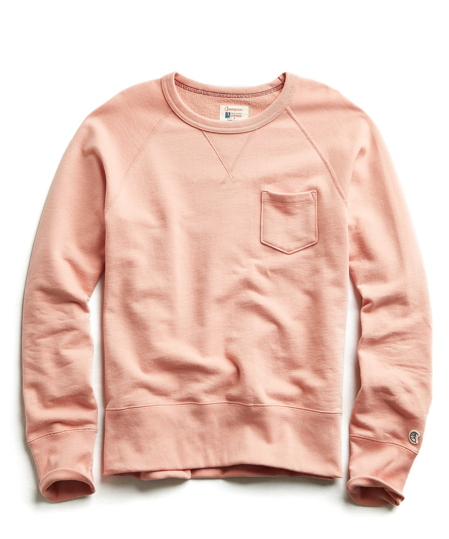 Terry Pocket Sweatshirt in Pale Salmon