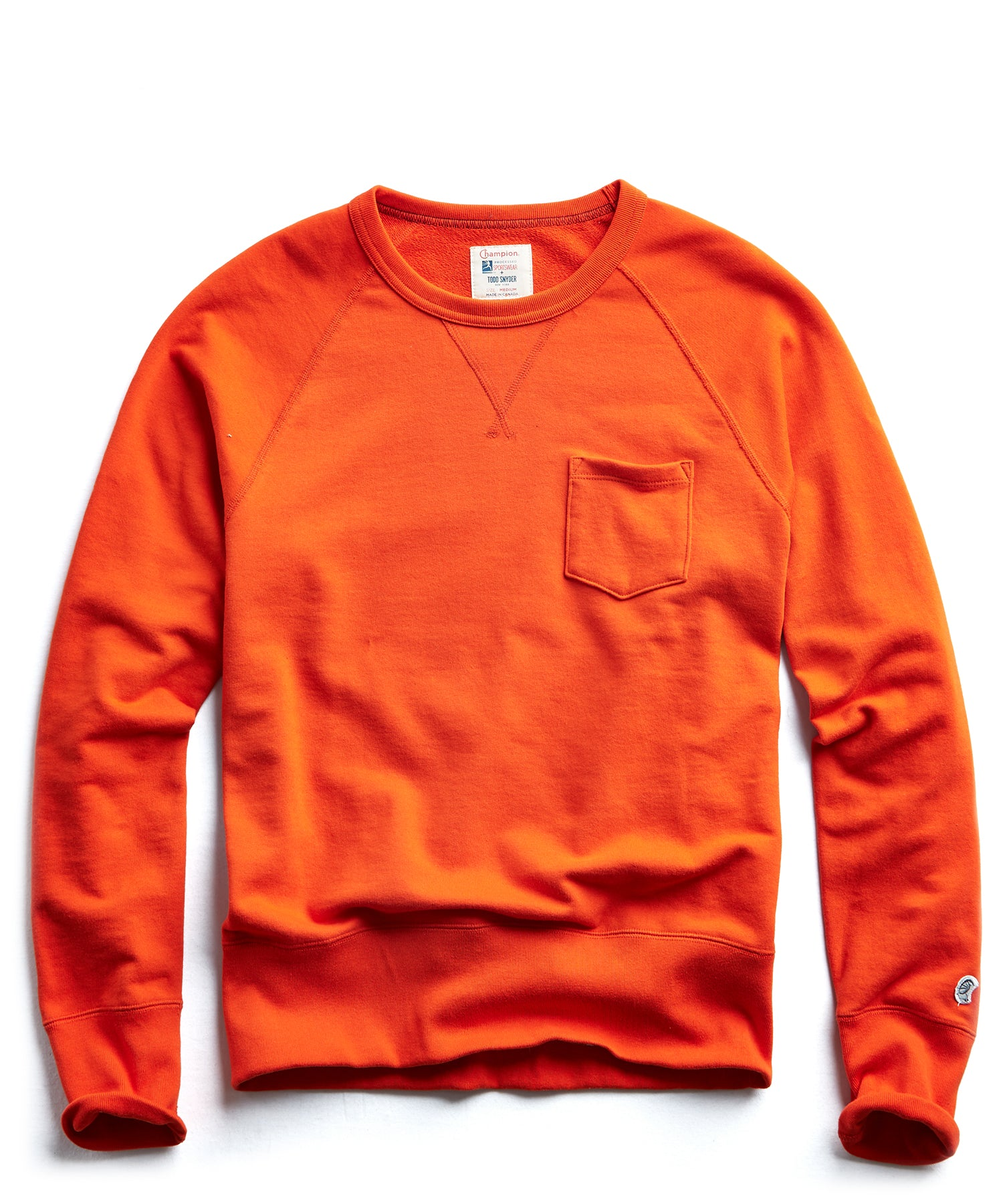 Terry Pocket Sweatshirt in Sunset Orange