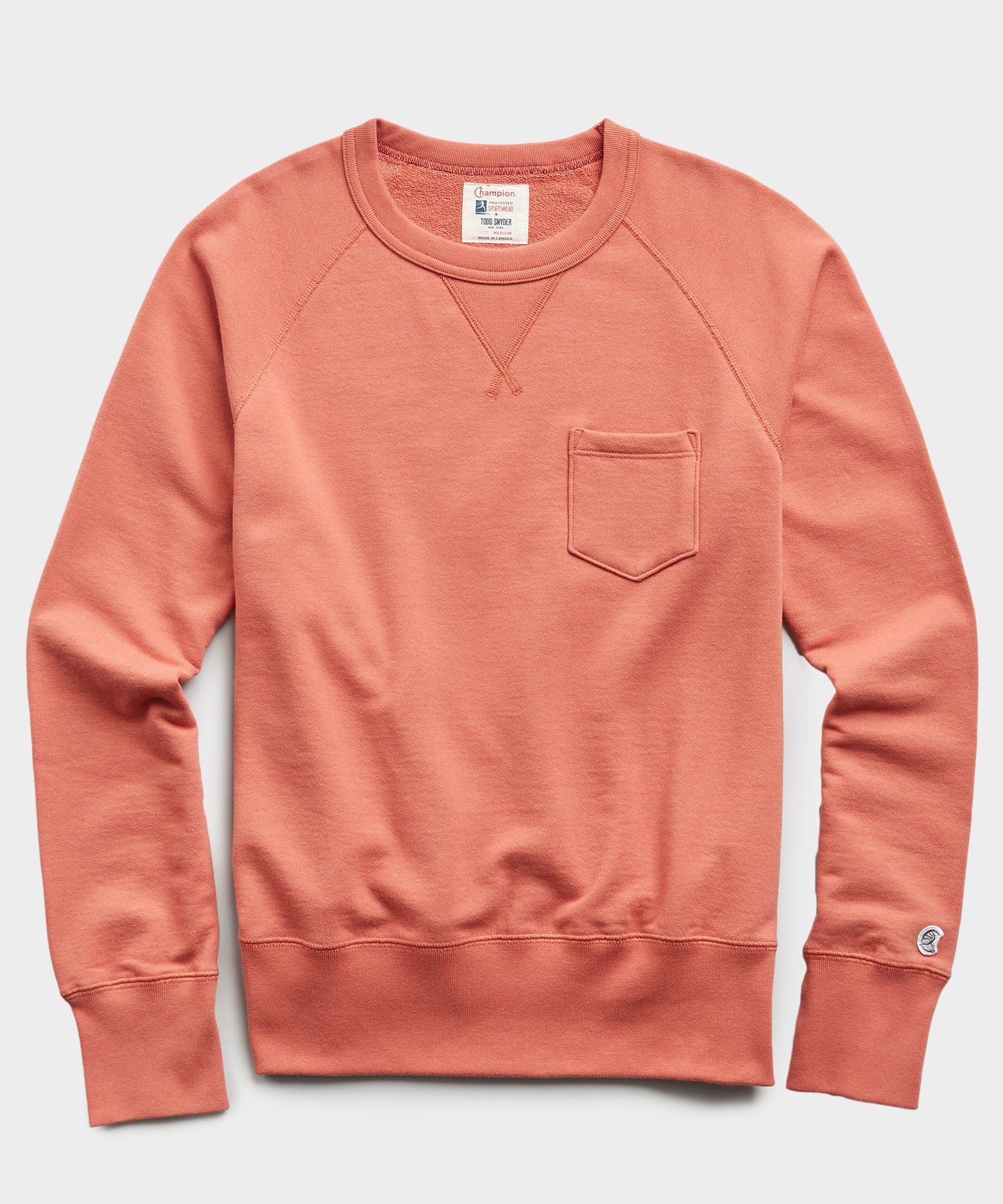 Lightweight Pocket Sweatshirt in Orange Russet
