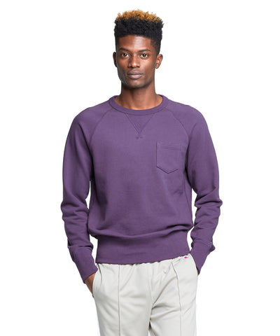 Terry Pocket Sweatshirt in Plum Royale
