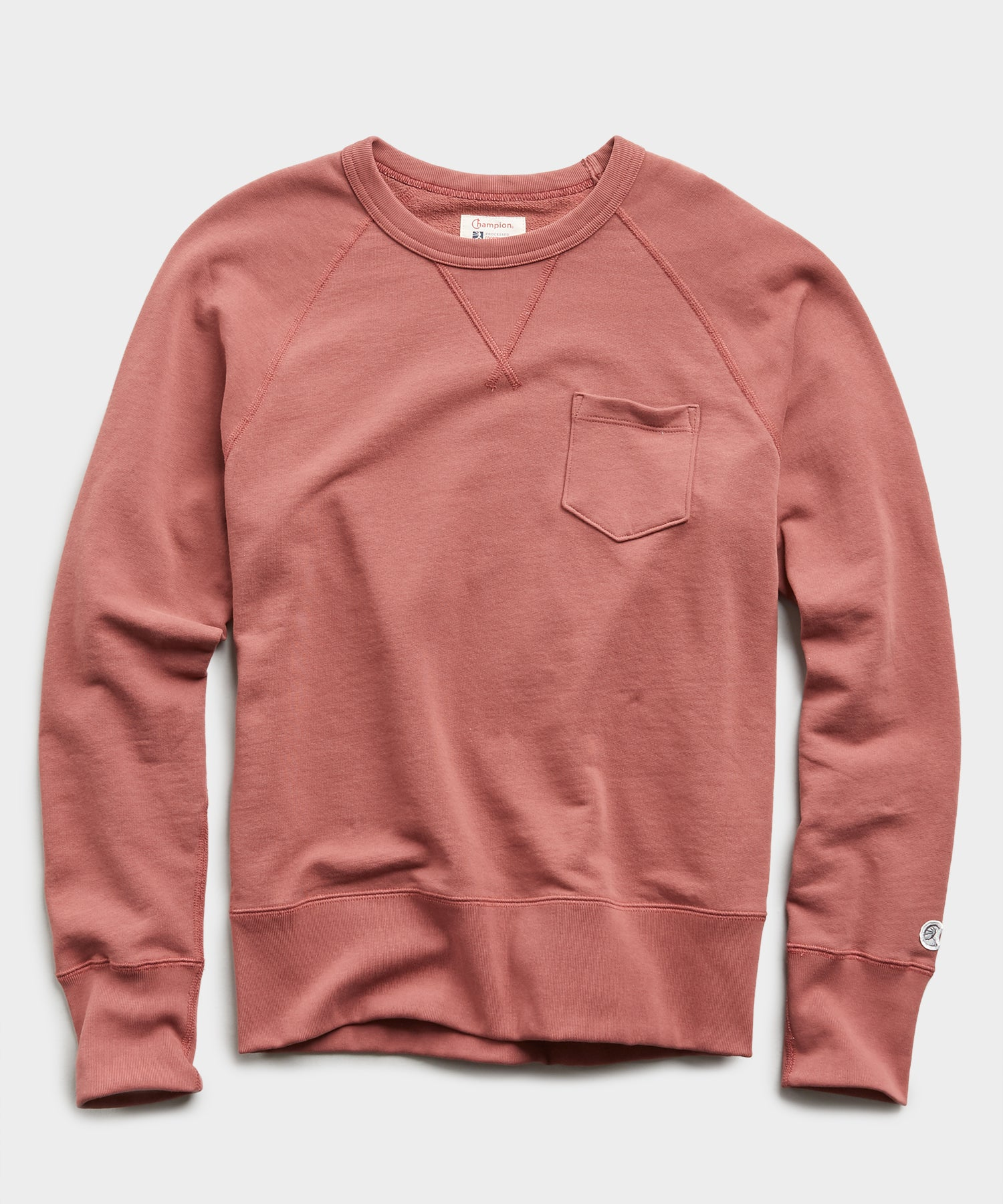 Lightweight Pocket Sweatshirt in Rosewine