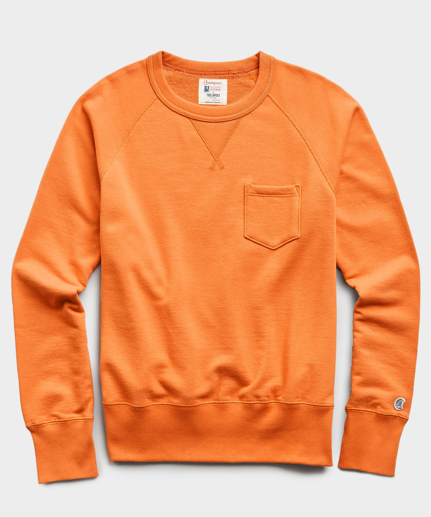 Midweight Pocket Sweatshirt in Signal Orange