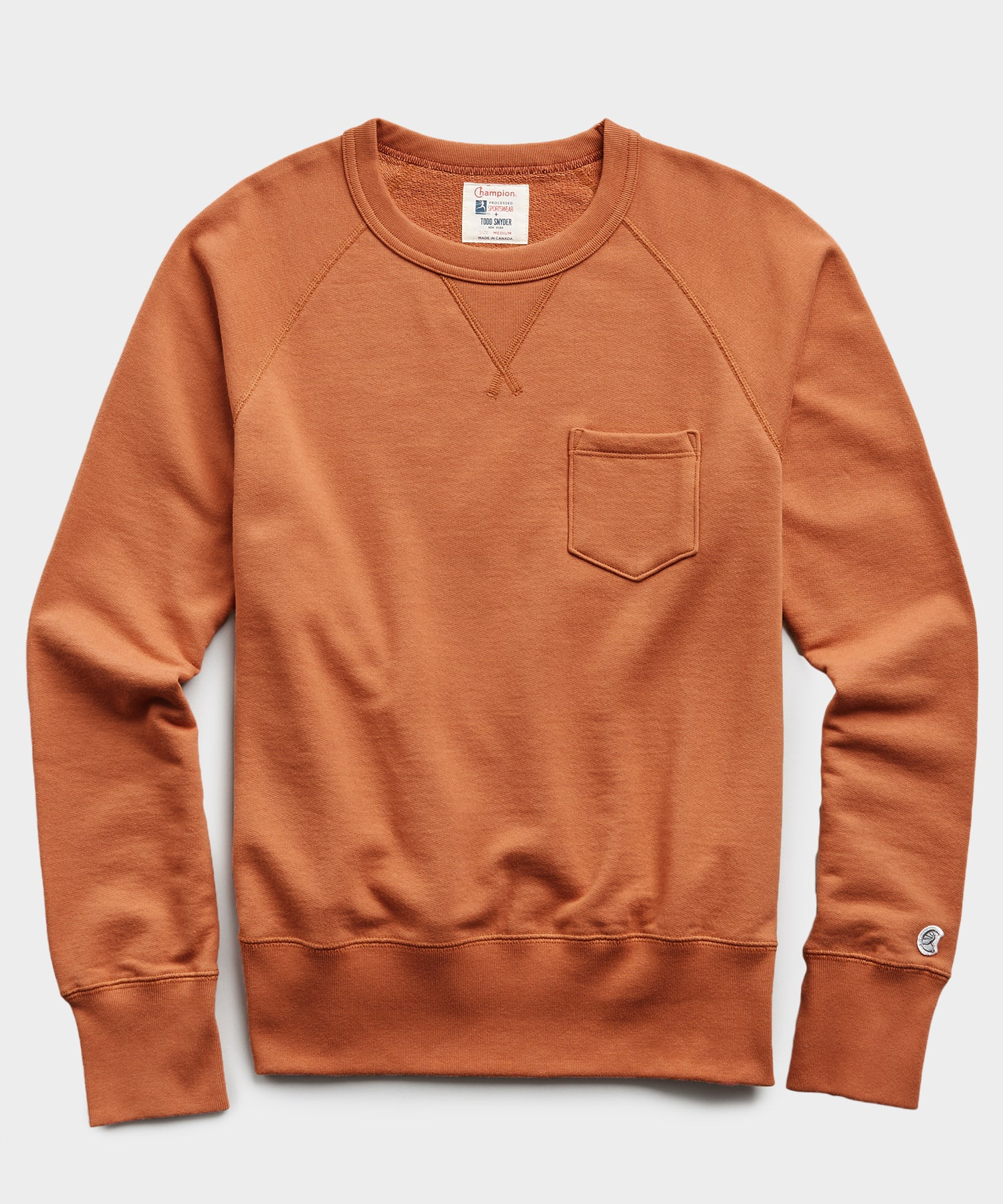 Lightweight Pocket Sweatshirt in Spice