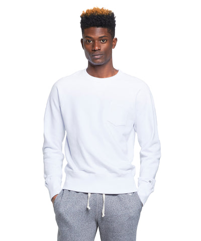 Terry Pocket Sweatshirt in White