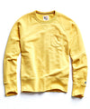 Terry Pocket Sweatshirt in Yellow