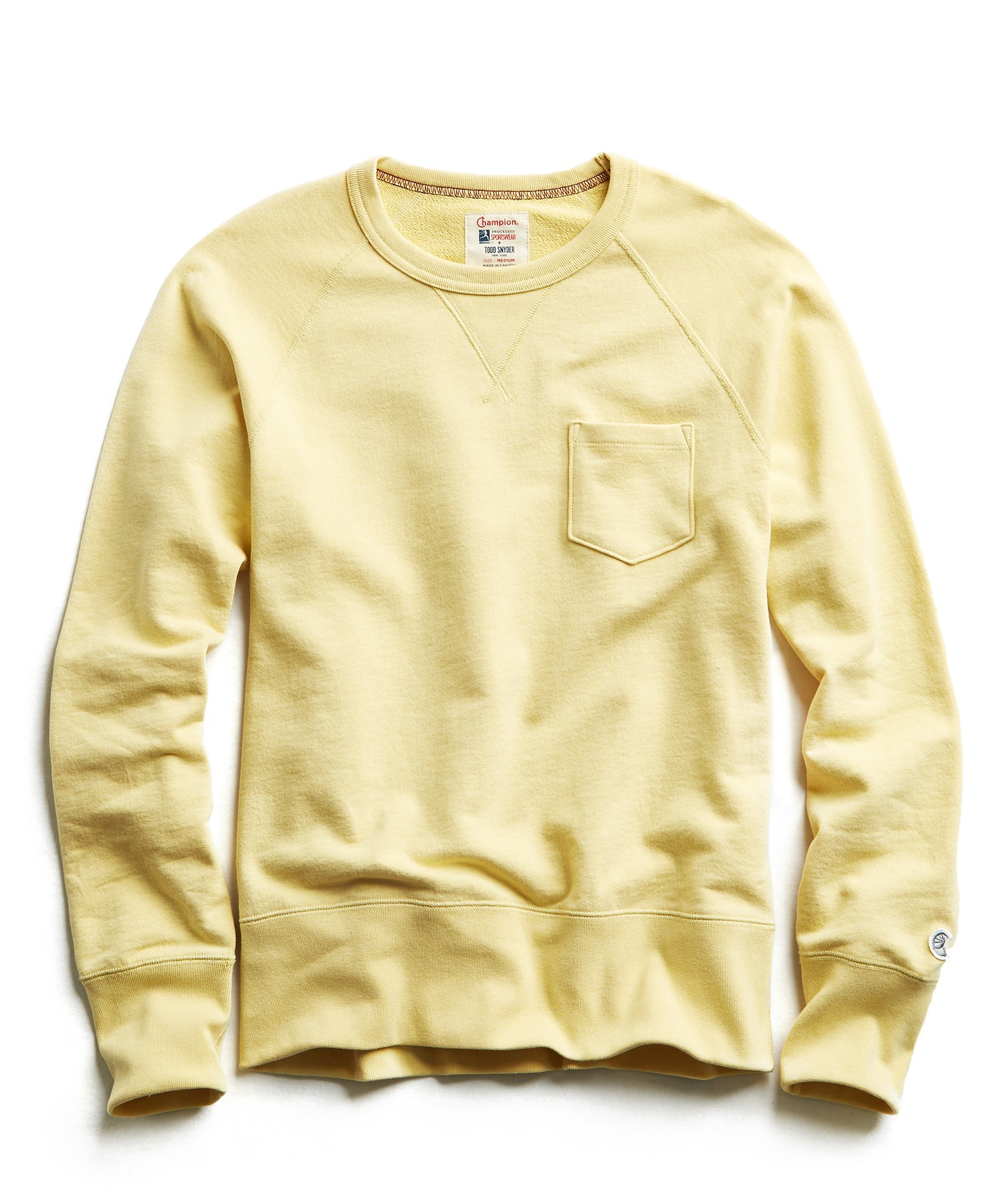 Terry Pocket Sweatshirt in Fresh Lemon