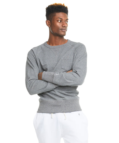 Terry Pocket Sweatshirt in Salt and Pepper