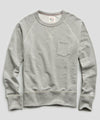 Lightweight Pocket Sweatshirt in Light Grey Mix
