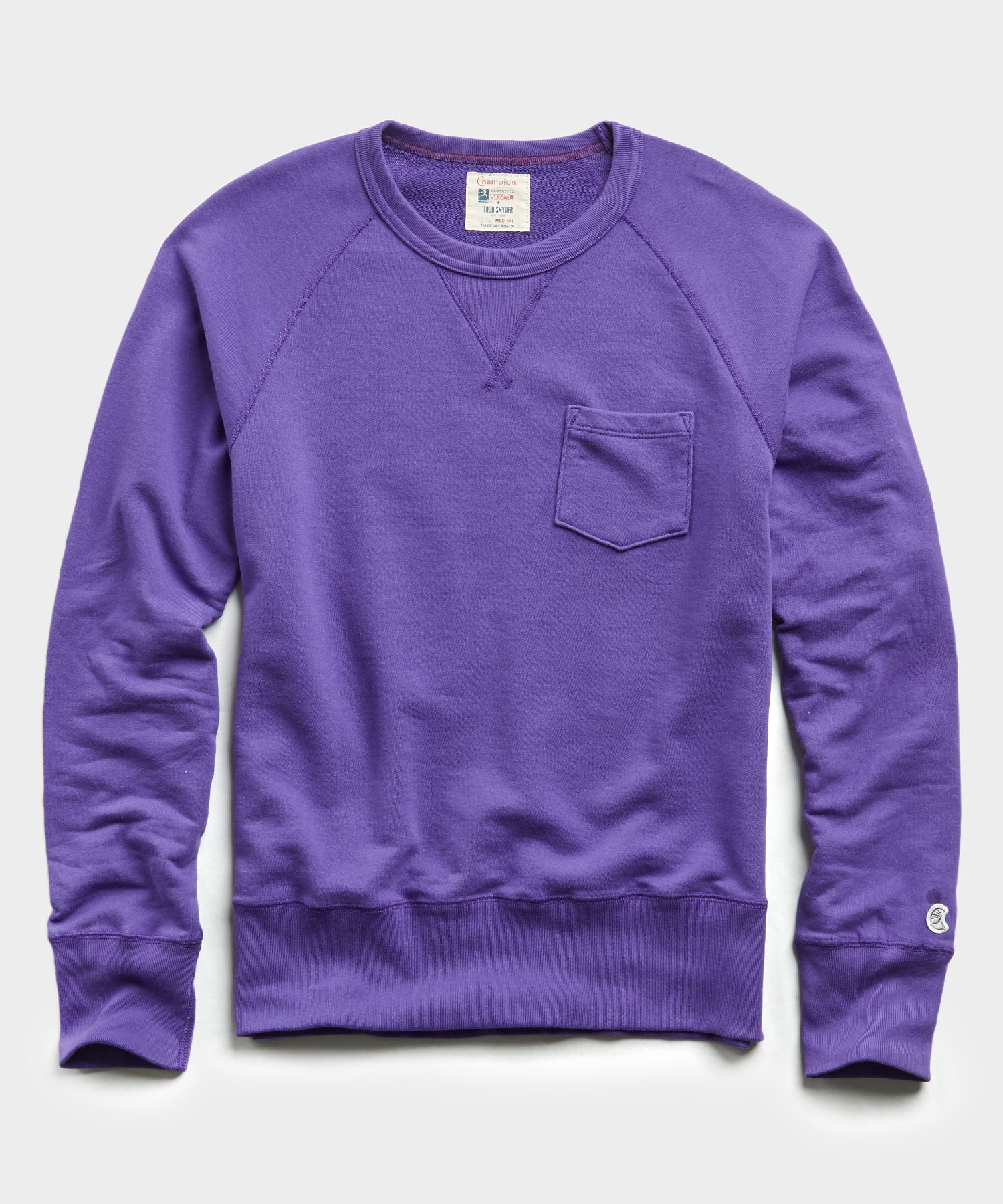 Terry Pocket Sweatshirt in Royal Purple