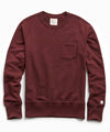 Terry Pocket Sweatshirt in Deep Burgundy