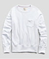 Lightweight Pocket Sweatshirt in White