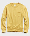 Lightweight Pocket Sweatshirt in Goldenrod
