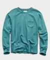 Lightweight Pocket Sweatshirt in Artichoke