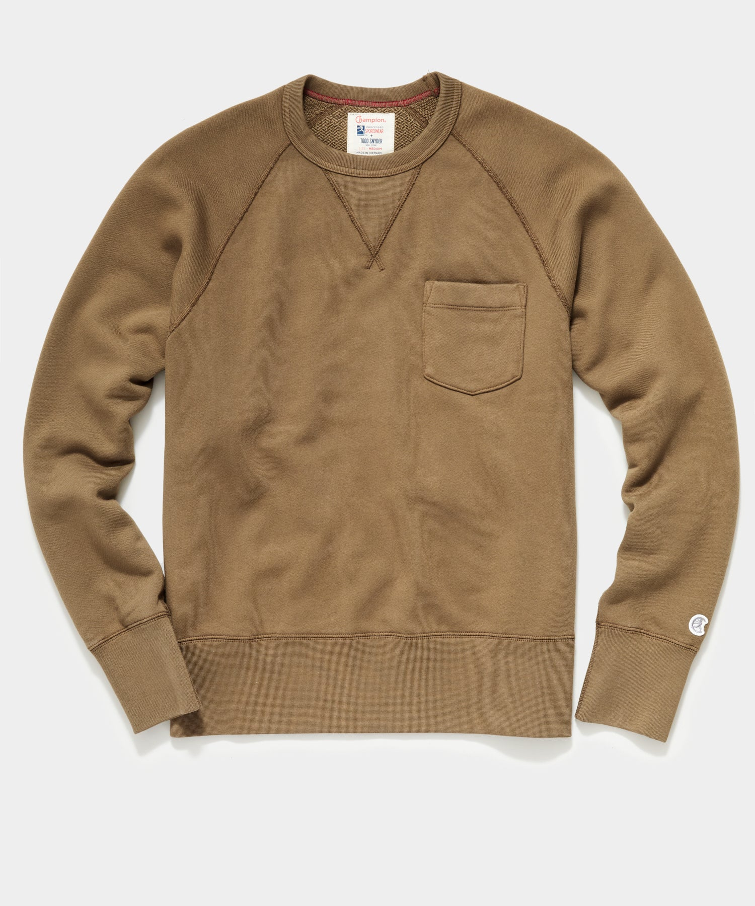 Midweight Pocket Sweatshirt in Mossy Brown