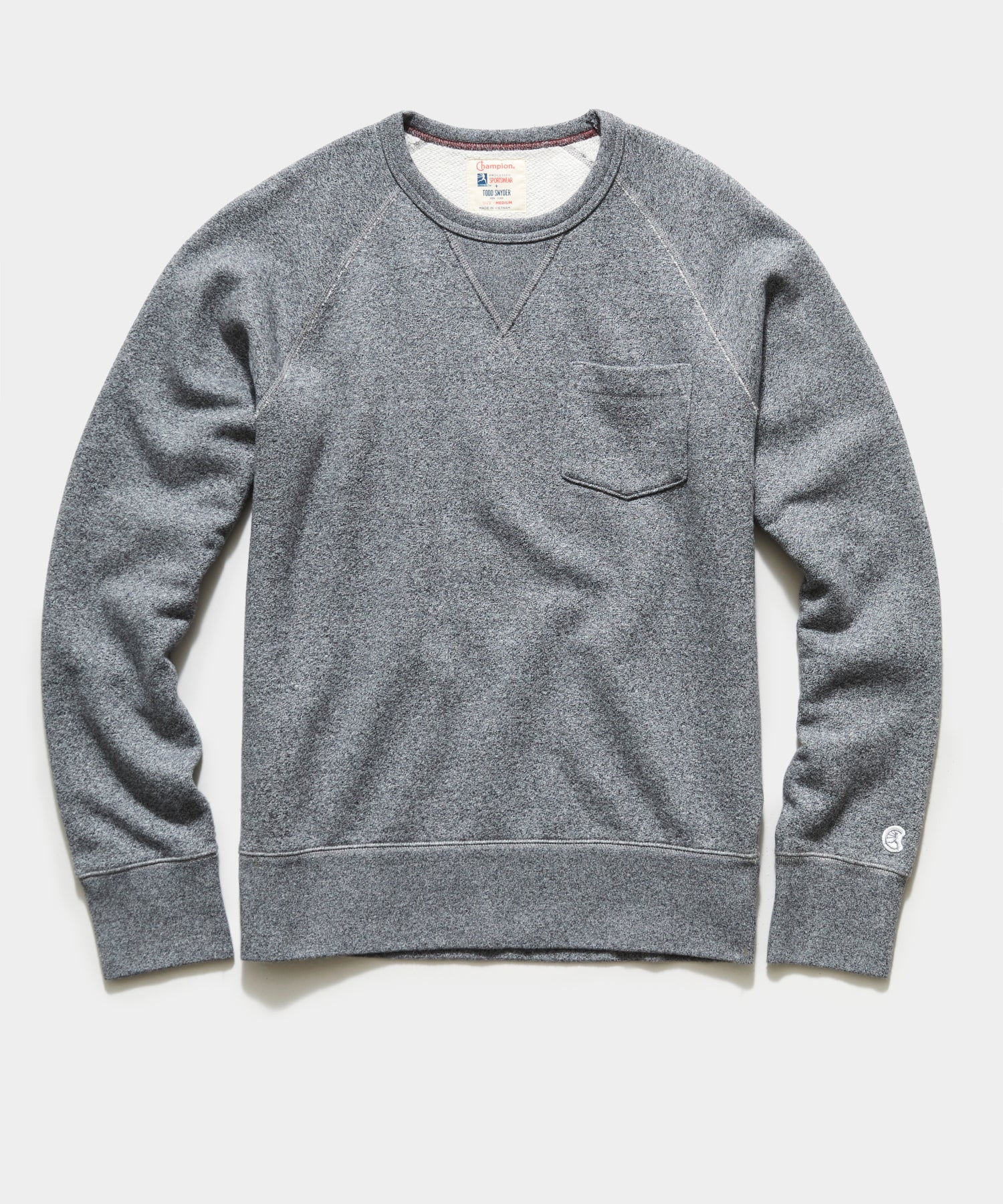 Midweight Pocket Sweatshirt in Salt and Pepper